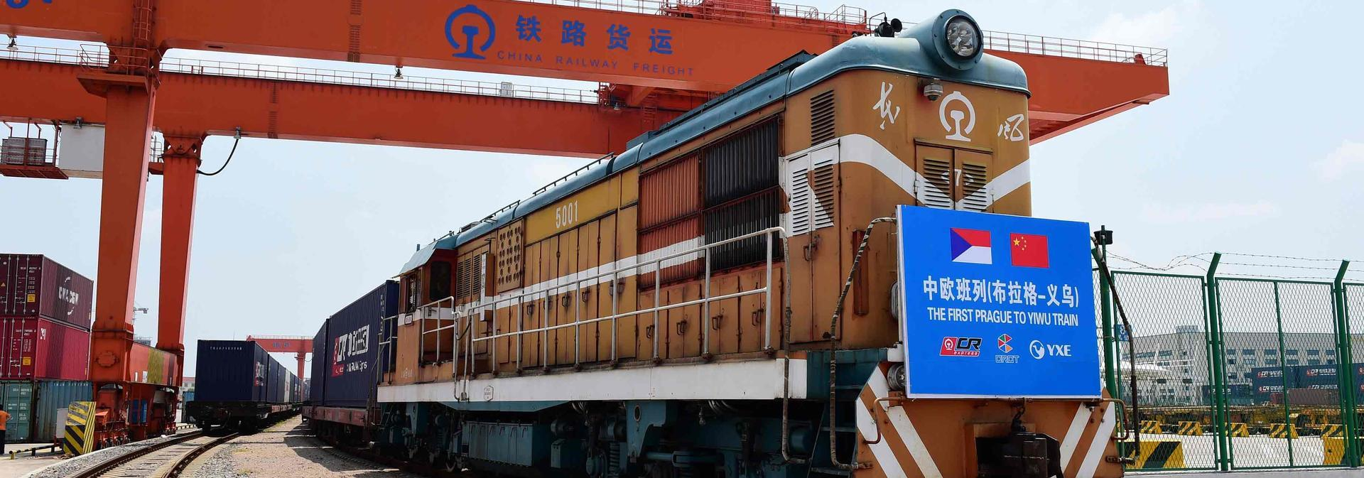 Freight train in China