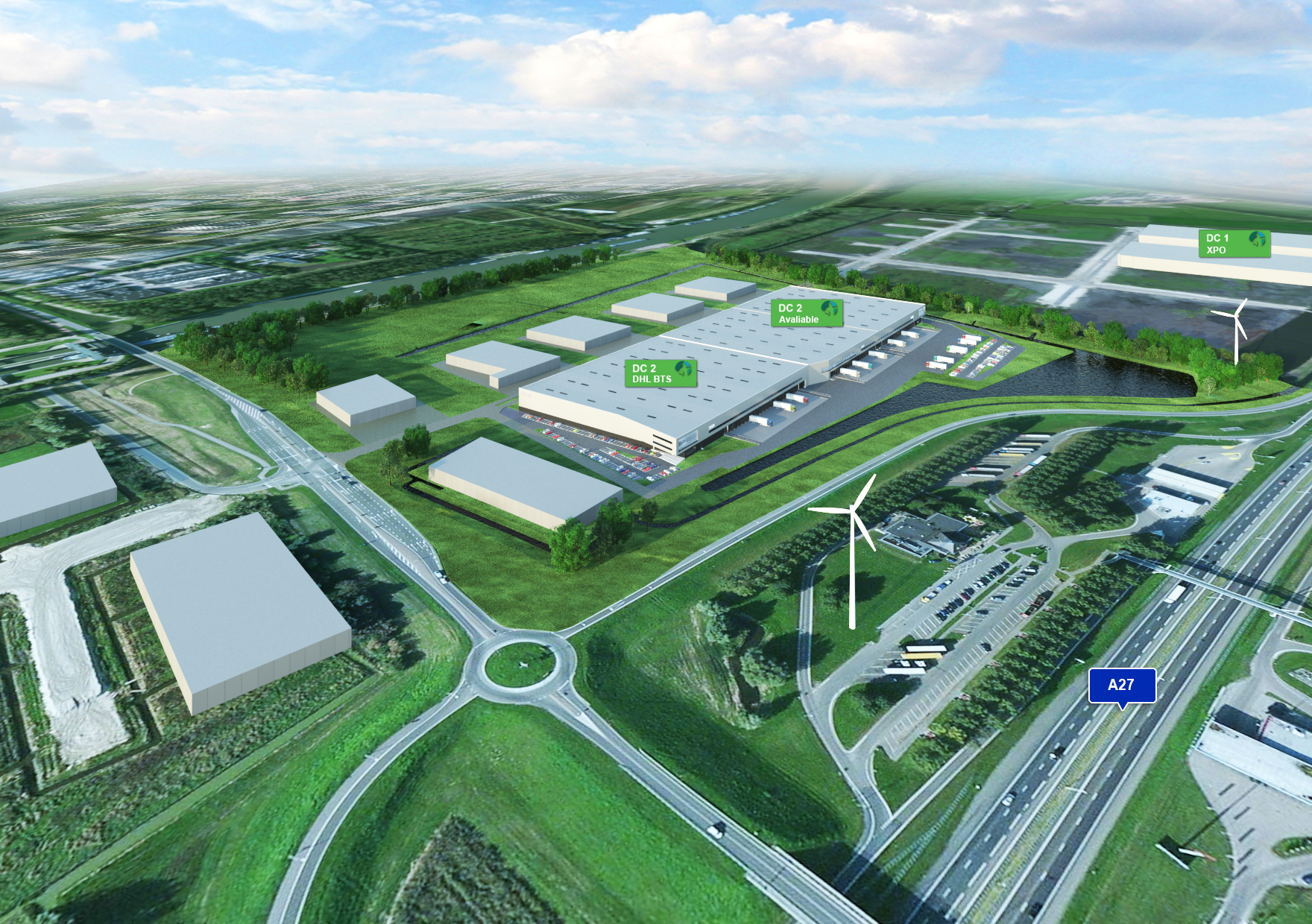 Bird's-Eye View Prologis Park Nieuwegein