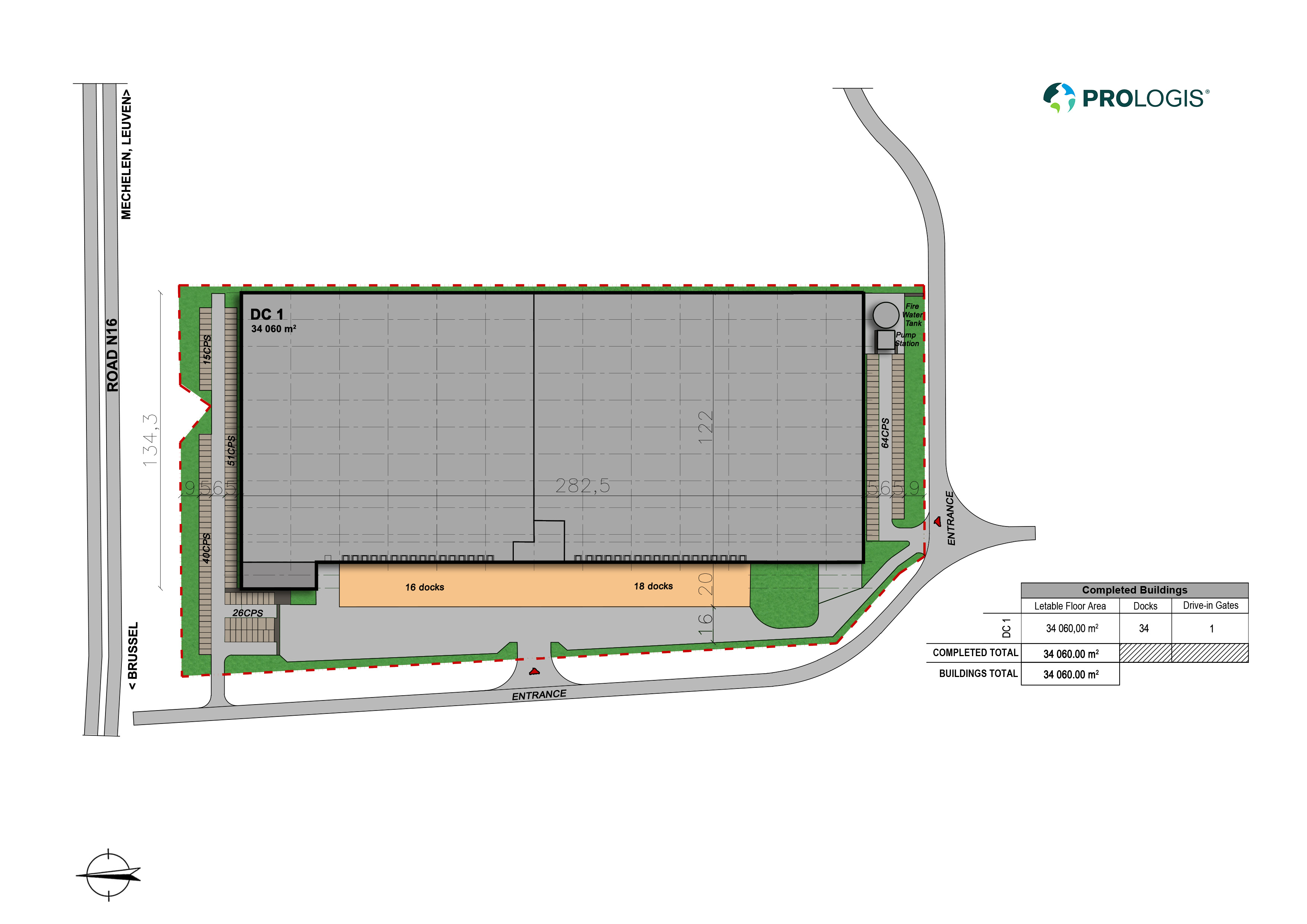 Hall Plan Prologis Park Willebroek