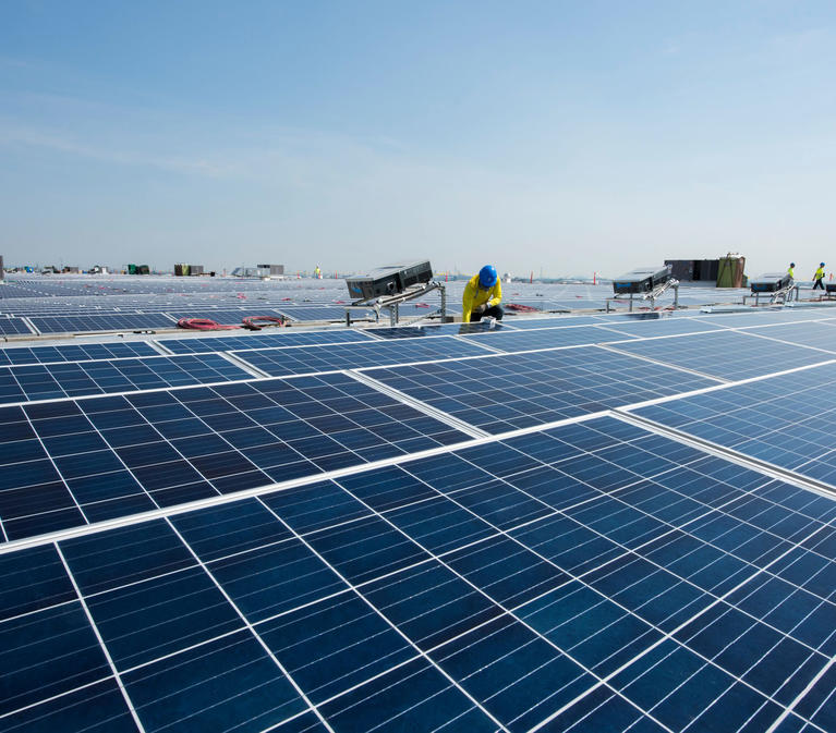 Solar Installation on a Prologis Warehouse