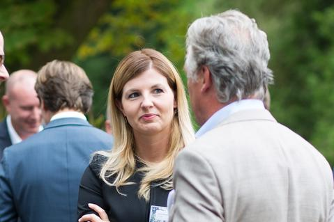 Gina Helmold op het Get Together event van Prologis